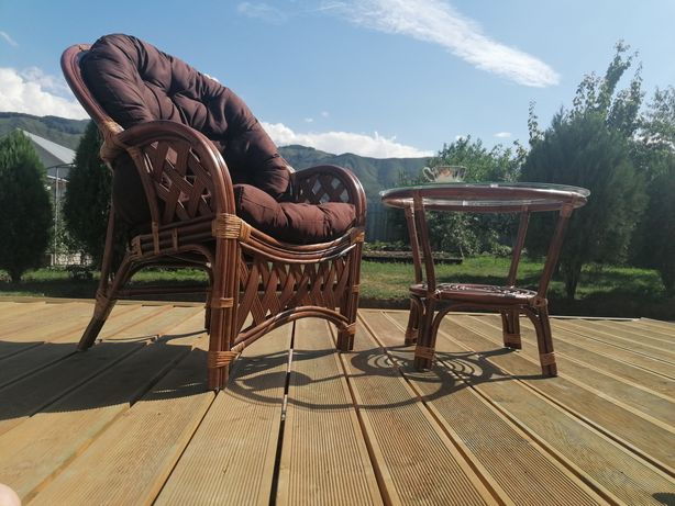 Ротанг кресло, диван, столик-ротанговая мебель