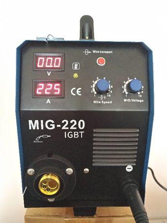 ТОП ЦЕНА ! Професионален заваръчен апарат MIG220А -Телоподаващо