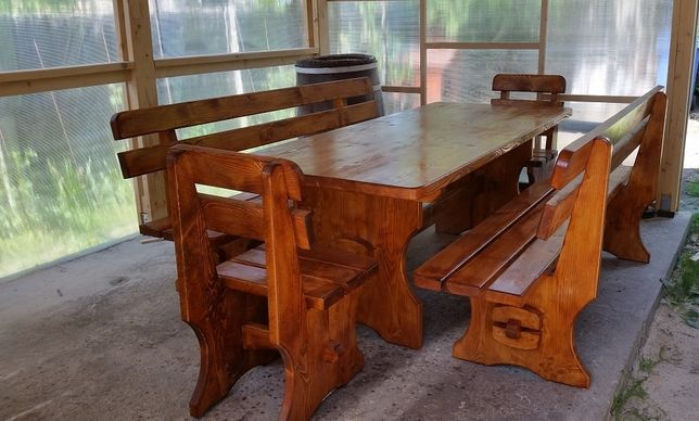 Masa cu banci si scaune pentru gradina,foisor,terasa