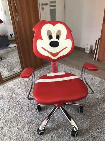 Scaun birou copii Mickey, rosu