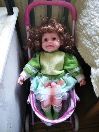 Кукла с коляской для девочки