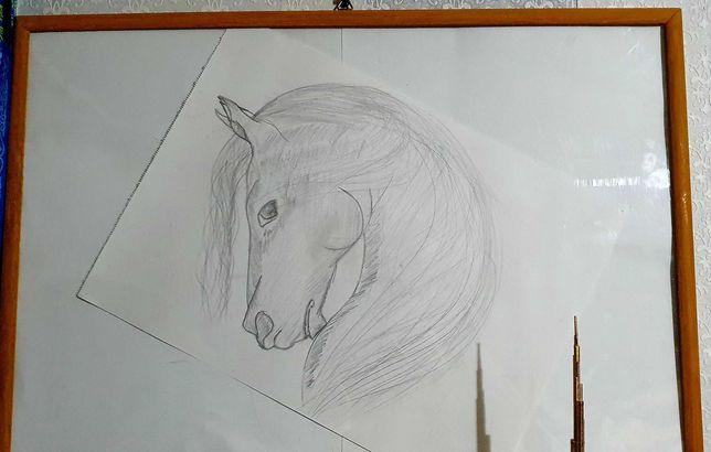 """Картина, Произведение искусство """"Лошадь"""""""