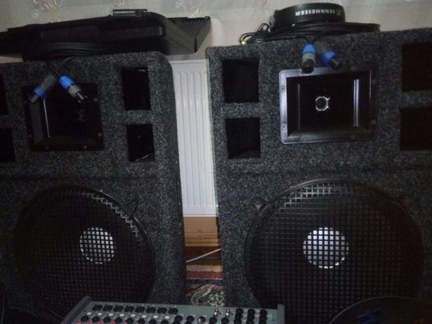 Mixer Ld Systems PM 12-2,boxe 500w,casti,cabluri,stative...
