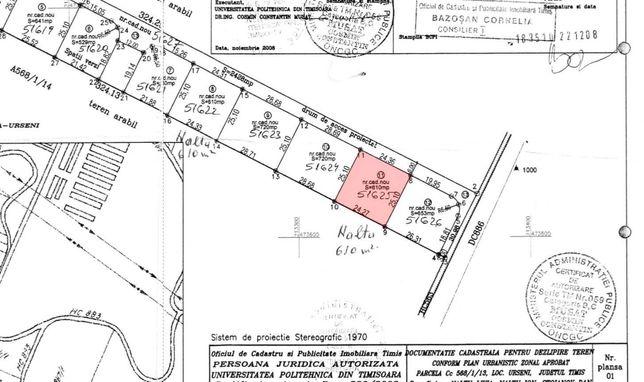 Vand 4 parcele de teren in Mosnita Noua / Urseni Intravilan