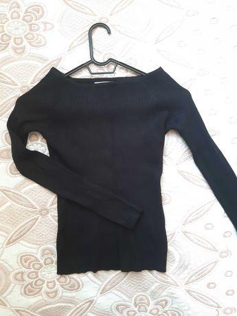 Дамска черна еластична блуза