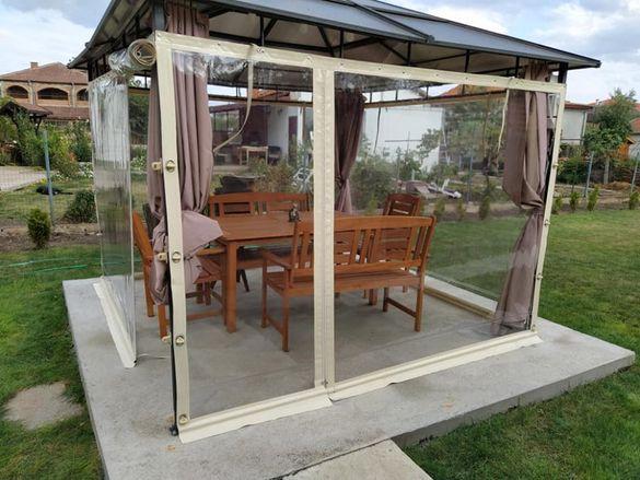Ветроупорни завеси, сенници, метални конструкции, поликарбонат