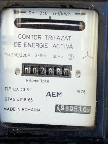 Contor electric trifazat