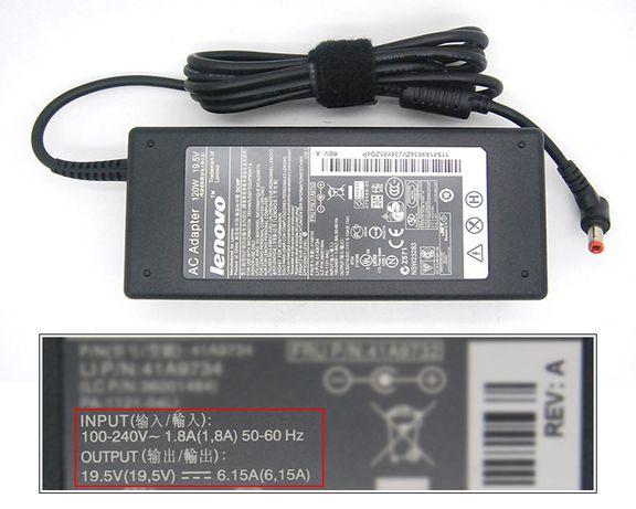 Lenovo 19,5V 6,15A 120W (5,5x2,5мм.) оригинал ЗАРЯДКА-БЛОК ПИТАНИЯ на