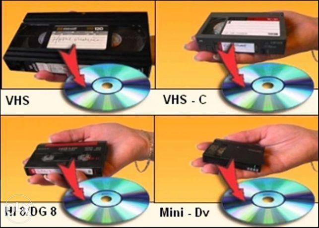Transfer,copieri casete video VHS,16mm,Hi8mm, MiniDV pe dvd sau Stick
