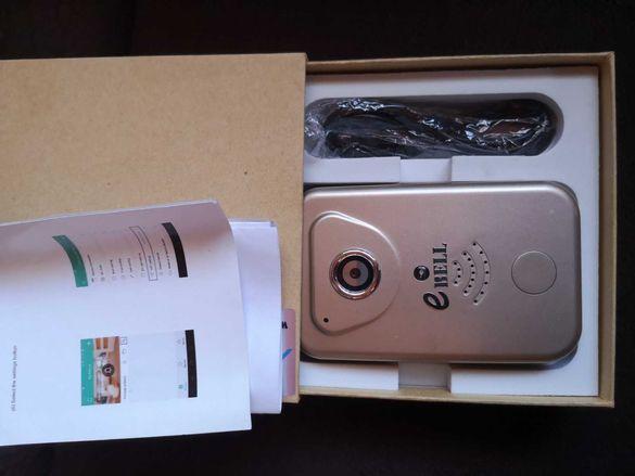 ВИДЕО ЗВЪНЕЦ-Wi-Fi IP camera video intercom AW007P-HD on battery