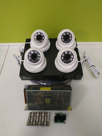 Супер цена! Комплект видеонаблюдения. 4 камеры , рег, за 50000 тг