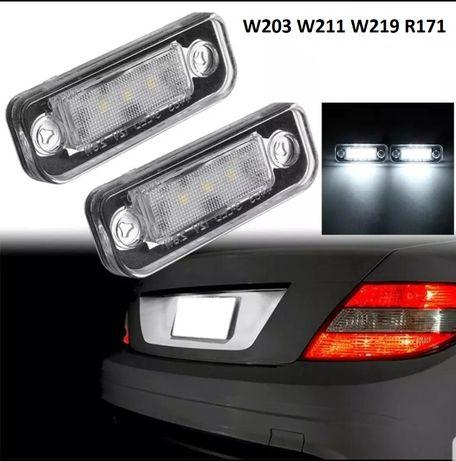 Lampi LED numar CANBUS DEDICATE Mercedes W203 W211 W219 R171