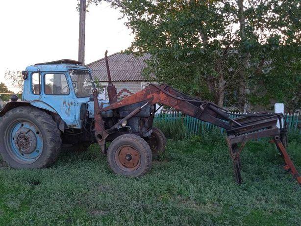 Трактор МТЗ 80 .с куном и валакуша