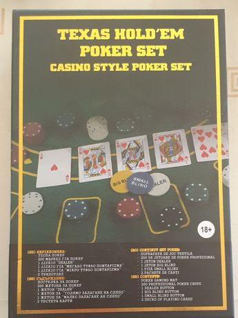 Poker set  Texas, nou