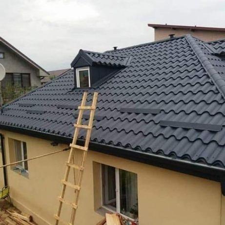Acoperisuri montaj tigla metalica dulgherie reparatii acoperis