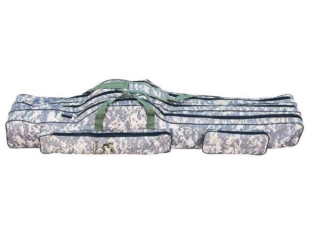 Husa Baracuda Camuflaj Digital Pentru 3 Lansete B20 130cm