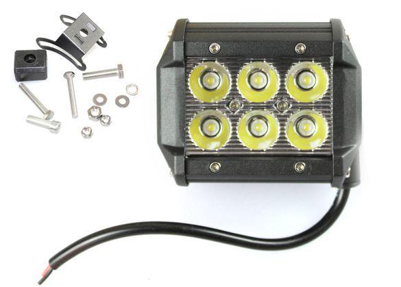 Работна лампа лед 18W (3W x 6 pcs) 12V-24V