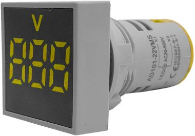Voltmetru, af., dig., cu LED-uri, 3 dig., 20 - 500V, c. alt.dif culori