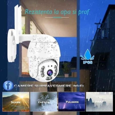 OFERTA: Camera Supraveghere Wi-FI PTZ IP Exterior 1080P(FULL HD)