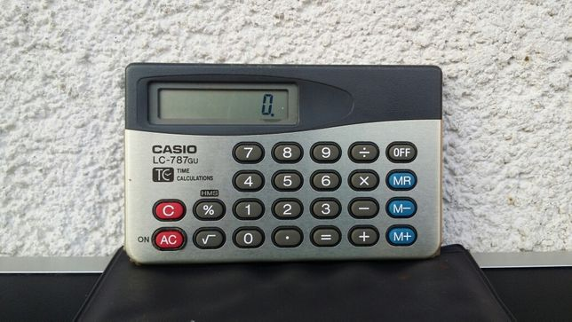 Calculator - buzunar - colectie - vintage - Casio - LC - 787 - GU