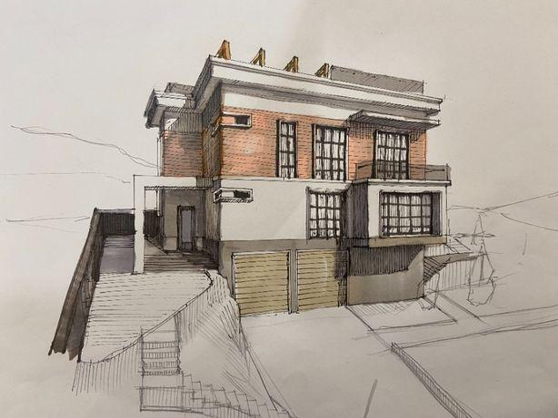 Эскизный Проект дома АПЗ Узаконение Архитектурное бюро пере планировка