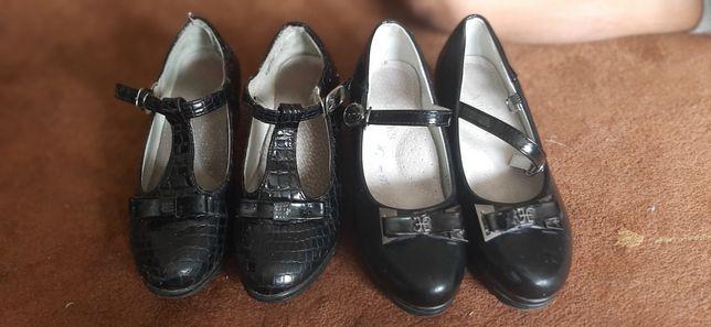 Туфли на девочку 32 размер .