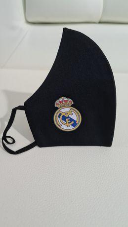 Masca Real Madrid, bumbac satinat, dubla, premium, reutilizabila