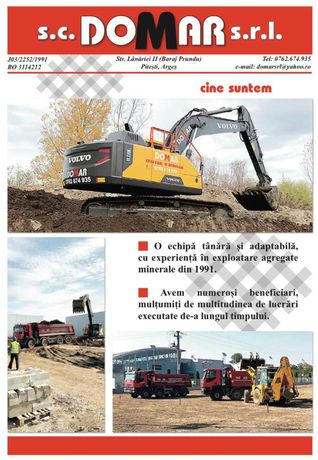 Excavare,demolare,agregate,drumuri,platforme,transport8x4,buldo,etc
