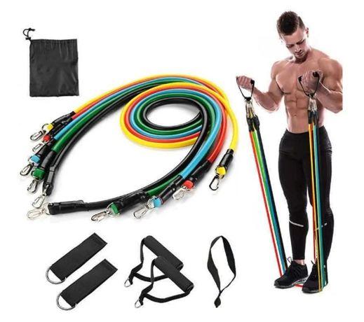 Супер комплект фитнес ластици за трениране