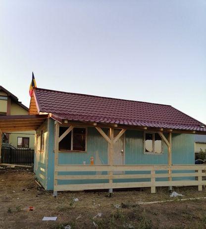 Vand și produc case pe structura metalică sau din lemn