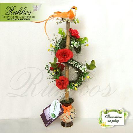 Цветочные-денежные деревья (топиарии) на подарок