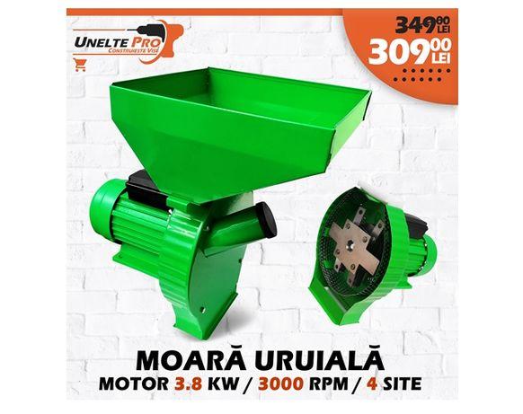 Moara Uruiala 3.8KW / 3000 rotatii pentru macinare , cereale , porumb