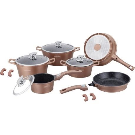 Set oale Royalty Line 14 piese Marmura Non-Stick