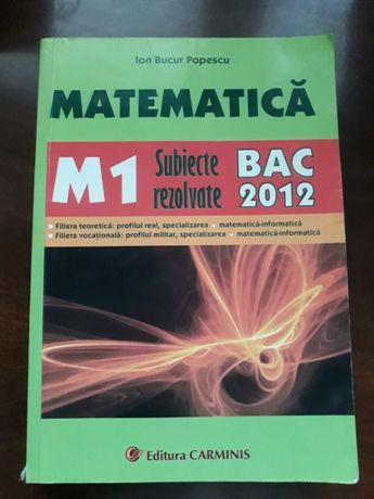Matematică M1 - Subiecte rezolvate, Ion Bucur Popescu