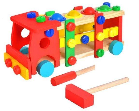 Дървен конструктор с инструменти - Камион
