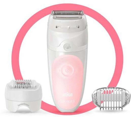 Эпилятор Braun SES 5/620 SensoSmart белый-розовый