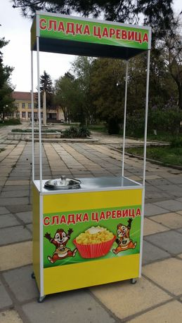 Количка за царевица на пара на ГАЗ. Количка за сладолед