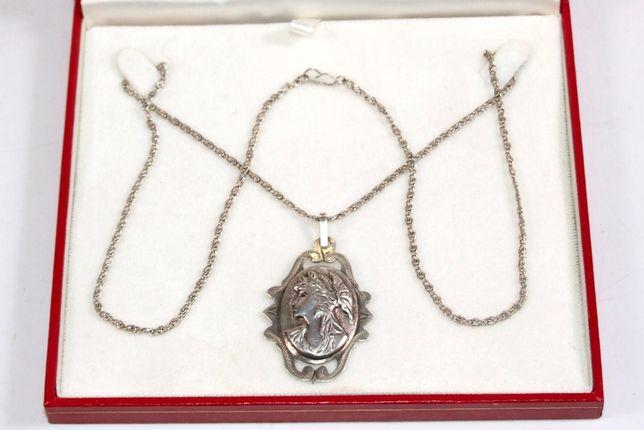 PANDANTIV, argint marcat, vechime peste 80 ani, 12,6 grame, handmade