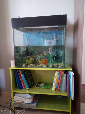 Аквариум с подставкой и рыбками, 100 литров