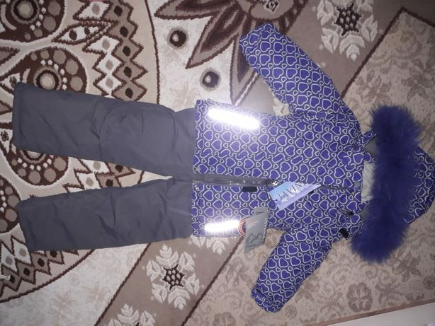 Куртка зимняя детская для девочек 2-3года
