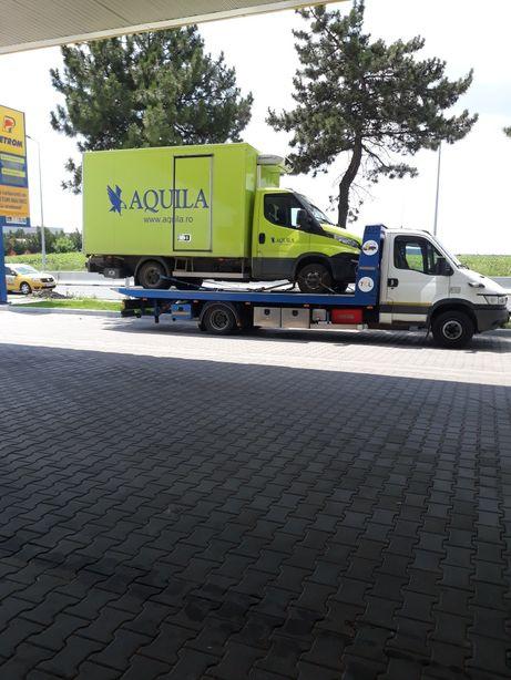 Tractari auto depanare cu platou hidraulic, si inchiriere stivuitor ;