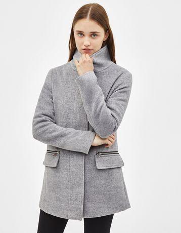 Дамско сиво палто