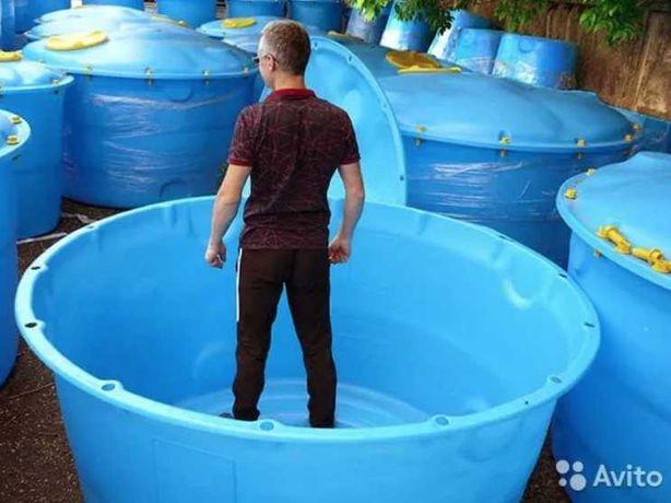 Емкость для воды, резервуар, бак, бочка от 500л до 10000л, емкости