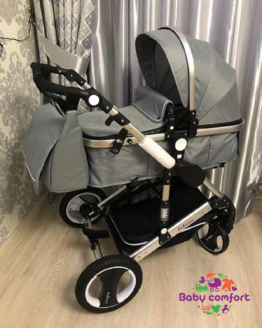 Детская коляска трансформер Belecoo коляски Алматы + сумка в подарок