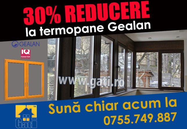 Azi 30% REDUCERE la închidere Balcon cu termopane Gealan