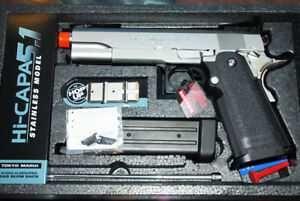 Pistol Airsoft Electric Hi-Capa Blow Back  Tinta/Joc