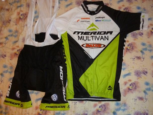 Echipament ciclism Merida multivan verde set pantaloni tricou