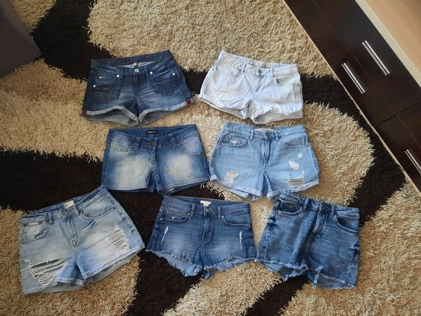 Брендовые джинсовые шорты, джинсы,сарафан р.36.