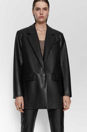 Sacou piele naturala oversize,model Zara