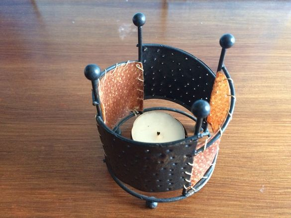 лот свещници ковано желязо, керамика, стъкло